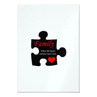 Family Puzzle 9 Cm X 13 Cm Invitation Card