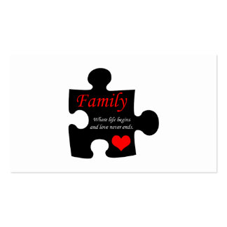 Family Puzzle Pack Of Standard Business Cards