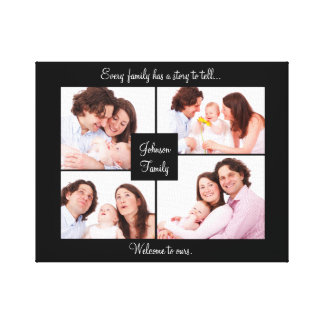 Family Quote Photo Collage Wall Art Wrapped Canvas