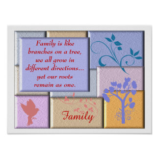 Family Quote - Poster