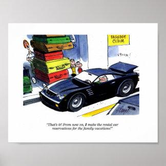 Family Rental Car Poster