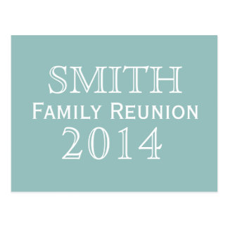 Family Reunion Blue Background Postcard