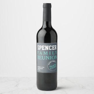 Family Reunion Celebration Wine Label