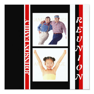 """Family reunion """"class of"""" party 5.25"""" square invitation card"""