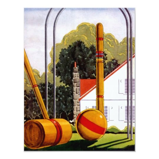 Family Reunion Croquet Lawn Casual Invitations