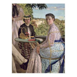 Family Reunion, detail of two women, 1867 Postcard