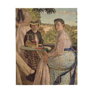 Family Reunion, detail of two women, 1867 Wood Wall Art