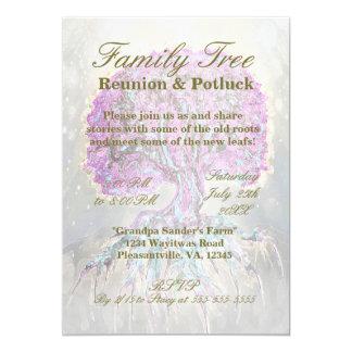 Family Reunion - Family Tree 13 Cm X 18 Cm Invitation Card