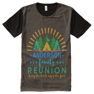 Family Reunion Funny Camping Trip | Add Name All-Over Print T-Shirt