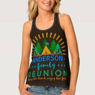 Family Reunion Funny Camping Trip | Add Name Tank Top