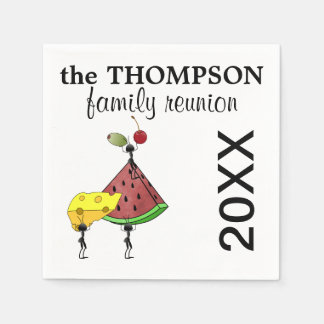 Family Reunion Napkins Disposable Napkins