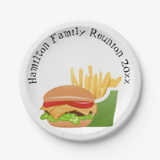 Family Reunion personalized Paper Plate