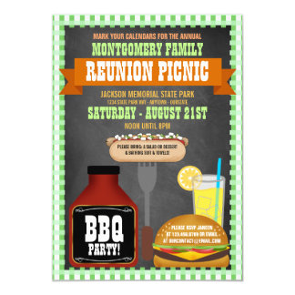 Family Reunion Picnic Invitations