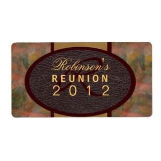 Family Reunion Shipping Label