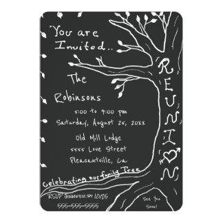 Family Reunion Simple Family Tree Card