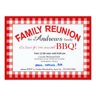 Family Reunion Summer BBQ Picnic 14 Cm X 19 Cm Invitation Card