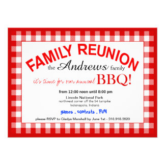 Family Reunion Summer BBQ Picnic Announcement