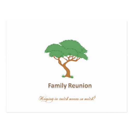 Family Reunion Tree - Blank Postcard | Zazzle