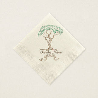 Family Reunion Tree Disposable Serviettes