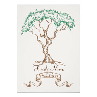 Family Reunion Tree Invitation