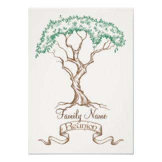 "Family Reunion Tree Invitation 5"" X 7"" Invitation Card"