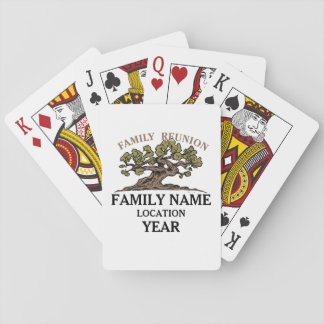Family Reunion Tree Playing Cards