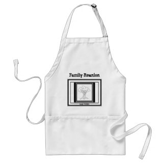Family Reunion - Tree with a twist! Adult Apron