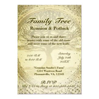 Family Reunion - Vintage Family Tree 13 Cm X 18 Cm Invitation Card