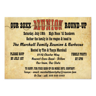 Family Reunion Vintage Western Theme Invitation