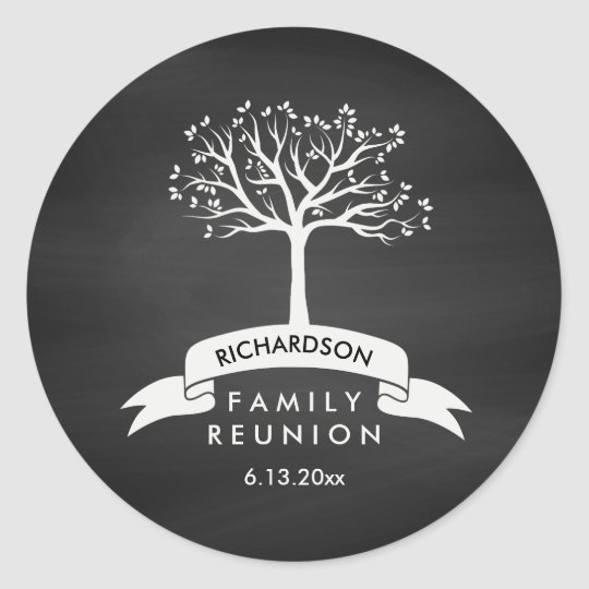 Family Reunion with Chalkboard, Banner and Tree Classic