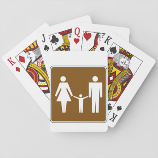 Family Road Sign Playing Cards