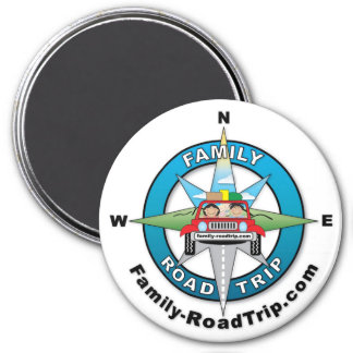 Family Road Trip Compass Rose Logo Magnet