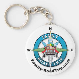 Family-RoadTrip.com Compass Rose Keychain