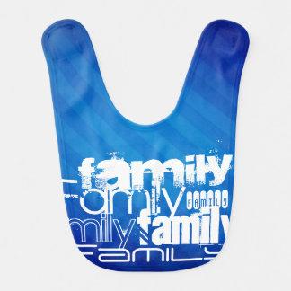 Family; Royal Blue Stripes Baby Bib