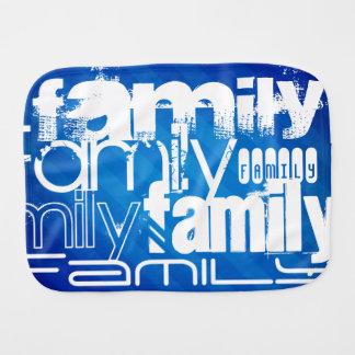 Family; Royal Blue Stripes Baby Burp Cloth