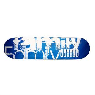 Family; Royal Blue Stripes Skate Board Deck
