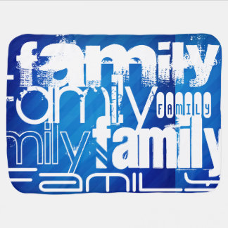 Family; Royal Blue Stripes Receiving Blankets