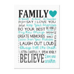 Family Rules Canvas Gallery Wrap Canvas