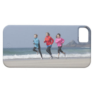 Family running together on beach barely there iPhone 5 case