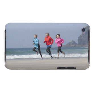 Family running together on beach Case-Mate iPod touch case
