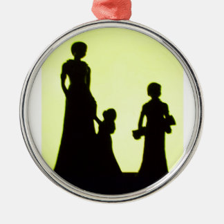 family Silver-Colored round decoration