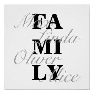 Family silver L Poster