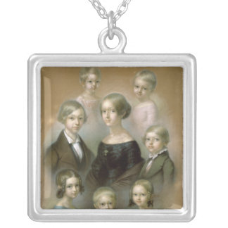 Family Silver Plated Necklace
