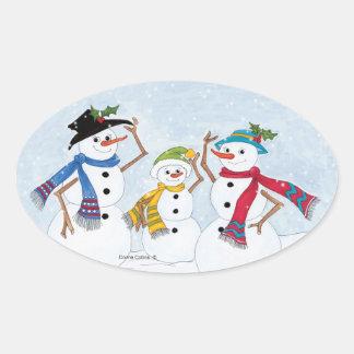 Family Snowmen Stickers