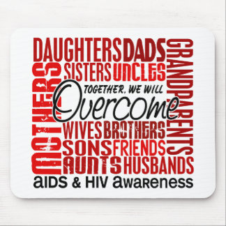 Family Square AIDS Mouse Pad