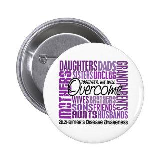Family Square Alzheimer's Disease 6 Cm Round Badge