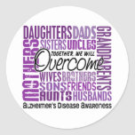 Family Square Alzheimer's Disease Stickers
