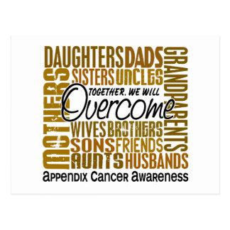 Family Square Appendix Cancer Postcard