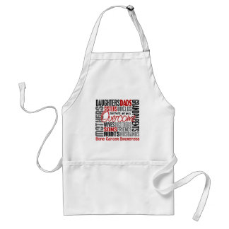 Family Square Bone Cancer Adult Apron