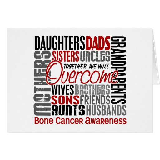 Family Square Bone Cancer Greeting Card